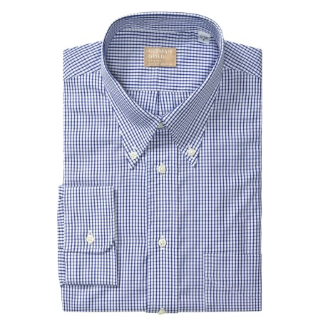 Gitman Brothers Cotton Check Dress Shirt - Long Sleeve (For Big Men)