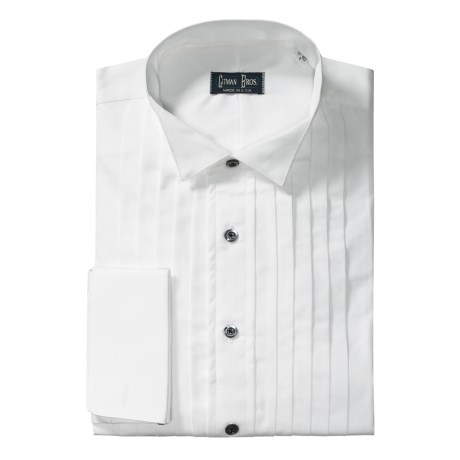 Gitman Brothers Wing Collar Formal Dress Shirt - Cotton, Long Sleeve (For Tall Men)