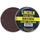 Lincoln Shoe Polish Company Premium Stain Wax Shoe Polish - 3 oz.