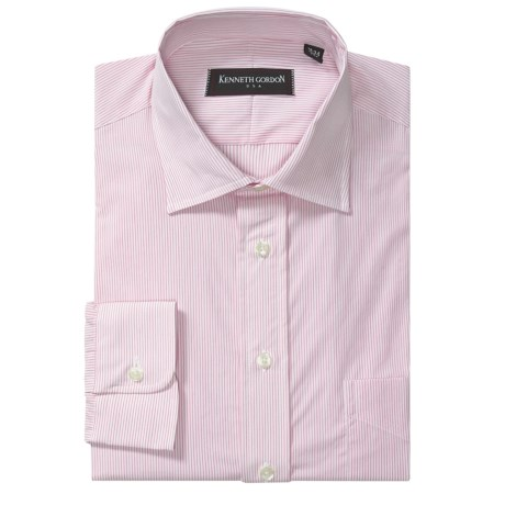 Kenneth Gordon Banker Stripe Dress Shirt - Cotton Broadcloth, Long Sleeve (For Men)