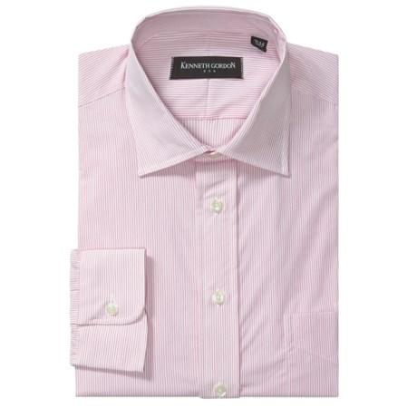 Kenneth Gordon Banker Stripe Dress Shirt - Cotton Broadcloth, Long Sleeve (For Men)
