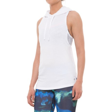 Nicole Miller Laser Mesh Hooded Tank Top (For Women)