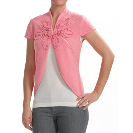 Z Sobi Cardigan Sweater - Short Sleeve (For Women)