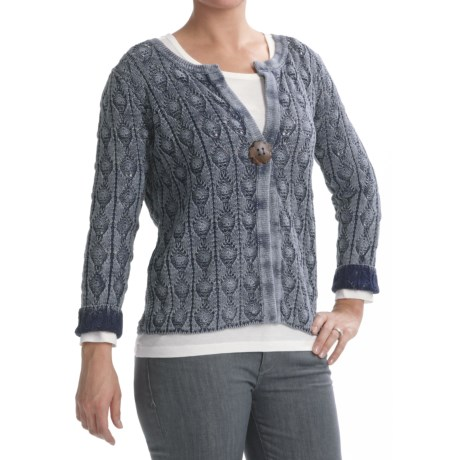 PBJ Blues Cardigan Sweater - Ramie-Cotton (For Women)