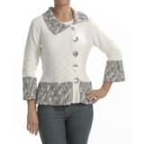 Z Zola Cardigan Sweater - 3/4 Bell Sleeve (For Women)