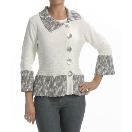 Z Zola Cardigan Sweater - 3/4 Bell Sleeve (For Women)