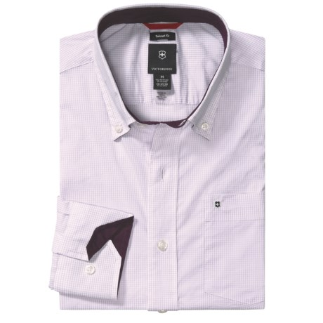 Victorinox Swiss Army Tattersall Shirt - Stretch Poplin, Long Sleeve (For Men)