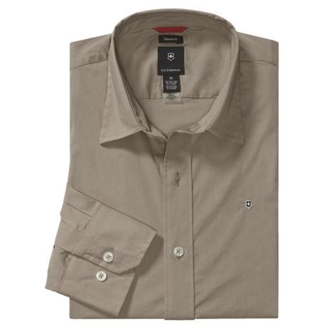 Victorinox Stretch Poplin Solid Shirt - Long Sleeve (For Men)