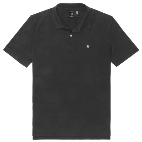 Victorinox Swiss Army Victorinox Stretch Pique Polo Shirt - Tailored Fit, Short Sleeve (For Men)