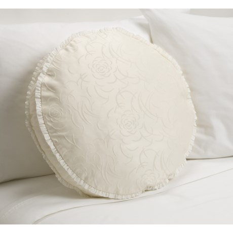 Barbara Barry Rosette Round Toss Pillow - 18""