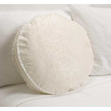 """Barbara Barry Rosette Round Toss Pillow - 18"""""""