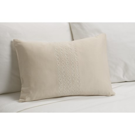 Barbara Barry Delicate Detail Boudoir Toss Down Pillow - 14x20""