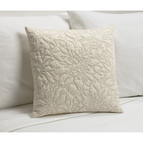 Barbara Barry Stitch Blossom Toss Down Pillow - 16x16""
