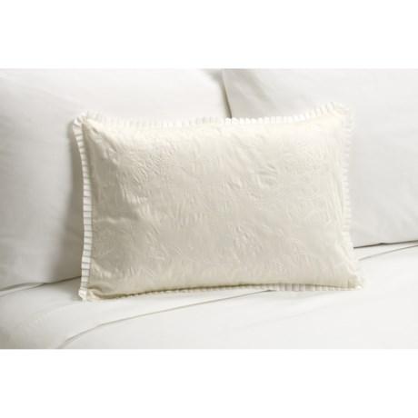 """Barbara Barry Rosette Boudoir Toss Pillow - 14x20"""""""