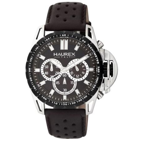 Haurex Talento-R Chronograph Watch - Leather Band