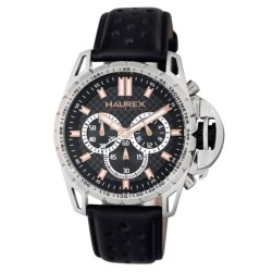 Haurex Talento-R Chronograph Watch - Leather Band