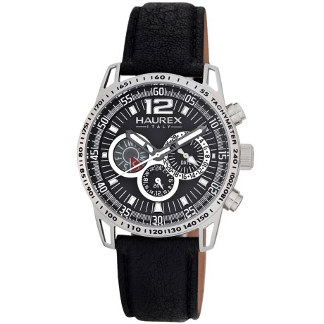 Haurex Italia Haurex Talento Dual Time Watch - Leather Band