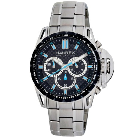 Haurex Talento-R Chronograph Watch - Stainless Steel