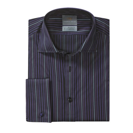 Thomas Dean Multi-Stripe Sport Shirt - French Cuff, Long Sleeve (For Men)