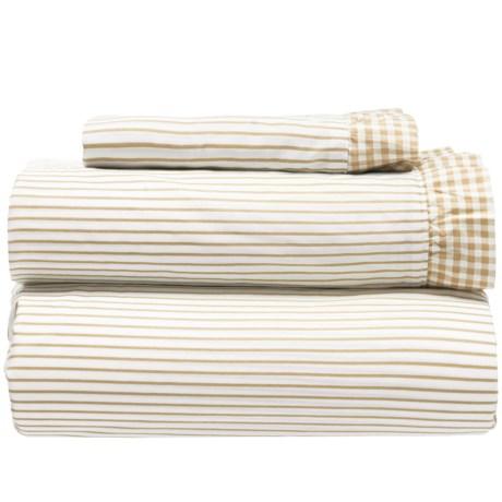 Melange Home Gingham Ruffle Sheet Set - Twin, 300 TC