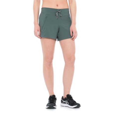 Apana Stretch Woven Shorts - Zip Pockets (For Women)