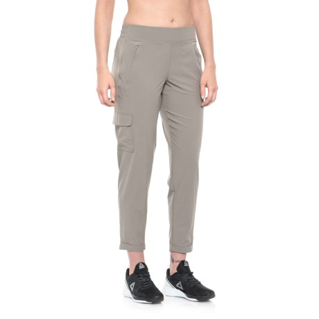 Apana Woven Cargo Pocket Pants (For Women)