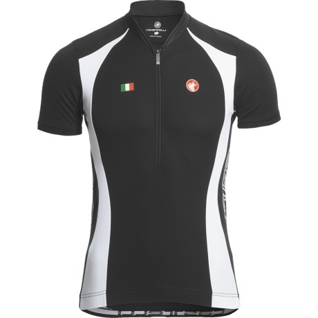 Castelli Podio Cycling Jersey - Zip Neck, Short Sleeve (For Men)