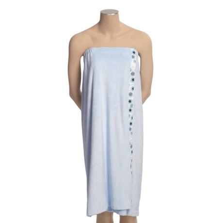 Dii Shower Wrap - Ribbon Trim (For Plus Size Women)