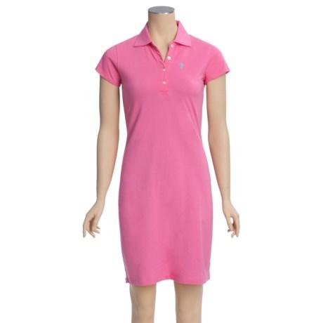 Hatley Pique Polo Beach Cover-Up Dress - Short Sleeve (For Women)