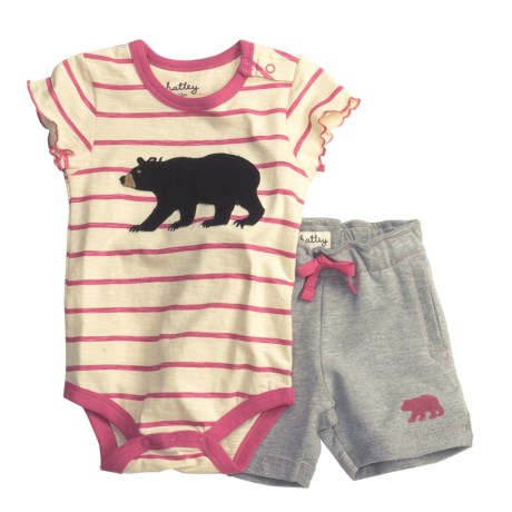Hatley Baby Bodysuit and Shorts Set - 2-Piece, Short Sleeve (For Infants)