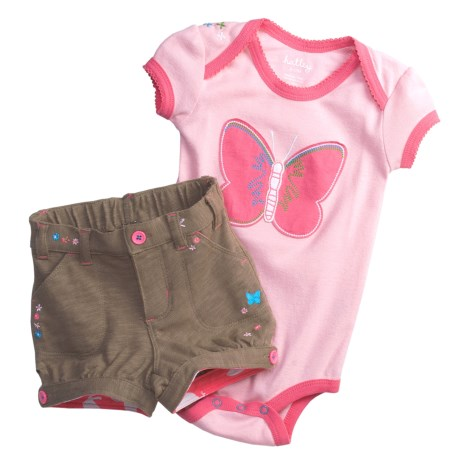 Hatley Bodysuit and Shorts Set- 2-Piece, Short Sleeve (For Infants)