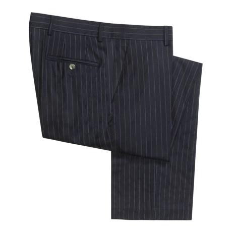 Barry Bricken Wool Pinstripe Pants - Flat Front (For Men)