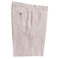 Charleston Khakis by Berle Striped Shorts - Linen (For Men)