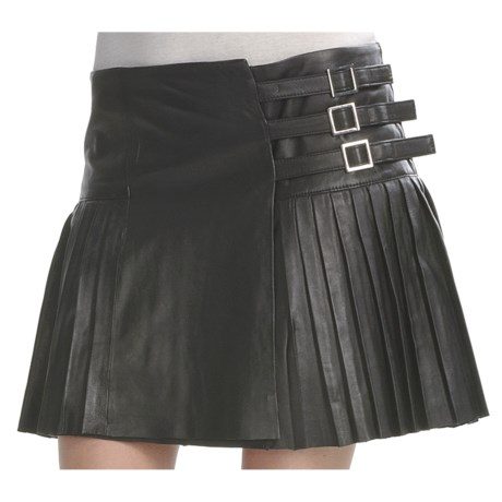 Pleated Lambskin Skirt (For Women)