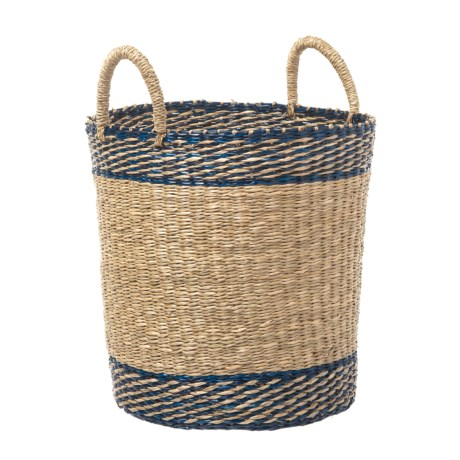 UMA Stripe Seagrass Storage Basket - 20""