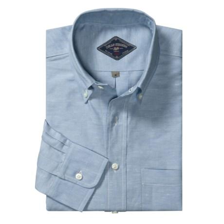 Bills Khakis Cotton Linen Shirt - Button-Down Collar, Long Sleeve (For Men)