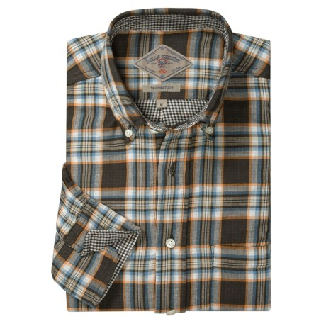 Bills Khakis Double-Faced Plaid Tailored Shirt - Long Sleeve (For Men)