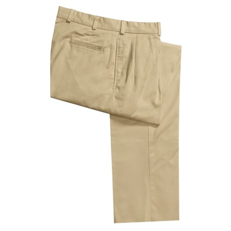 Bills Khakis M1P Cotton Twill Pants - Front Pleats (For Men)