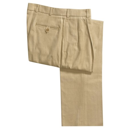 Bills Khakis M2P Tweed Windowpane Pants - Pleated (For Men)