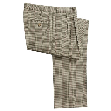 Bills Khakis M2P Houndstooth Tweed Pants - Forward Pleats (For Men)