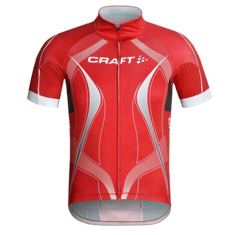 Craft Sportswear High-Performance Bike Tour Jersey - Short Sleeve, Full Zip (For Men)