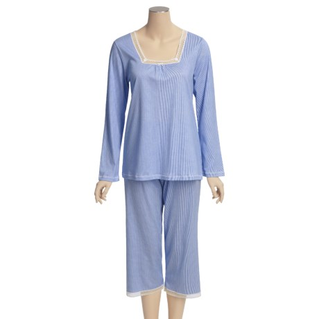 Calida Ylang Ylang Cotton Capri Pajamas - Lightweight, Long Sleeve (For Women)