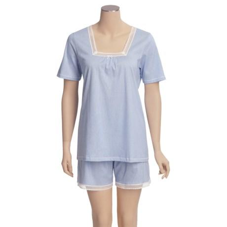 Calida Portofino Short Pajamas - Lightweight, Short Sleeve (For Women)