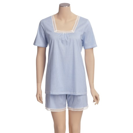 Calida Portofino Short Pajamas - Lightweight, Short Sleeve (For Women)