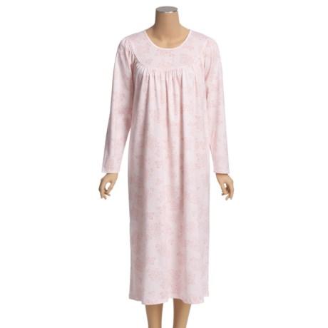 Calida Interlock Cotton Nightgown - Long Sleeve (For Women)