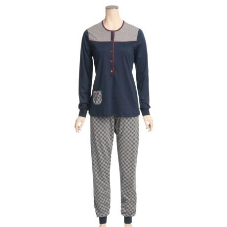 Calida Happy Day Cuffed Pajamas - Swiss Cotton, Long Sleeve (For Women)