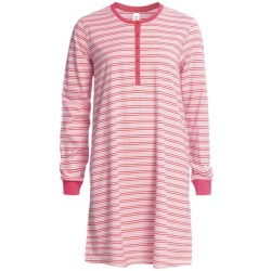 Calida Coral Reef Nightshirt - Single-Jersey Cotton, Long Sleeve (For Women)