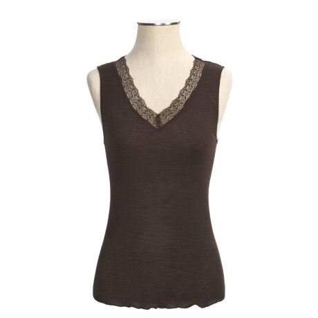Calida Embrace Tank Top - Wool-Silk Rib (For Women)