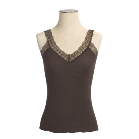 Calida Embrace Tank Top - Wool-Silk Rib, Spaghetti Strap (For Women)