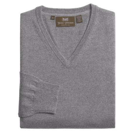 Hickey Freeman Twisted Yarn Sweater - V-Neck, Merino Wool (For Men)